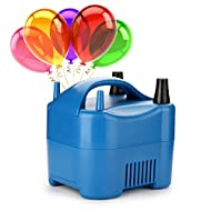 AGPTEK 680W High Power Two Nozzle High Power Electric Balloon Inflator Pump Portable Blue Air Blower,Inflate in One Second, BP3-EU