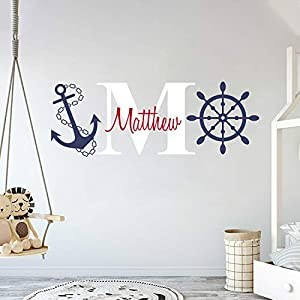 Custom Name & Initial Rudder & Anchor R...
