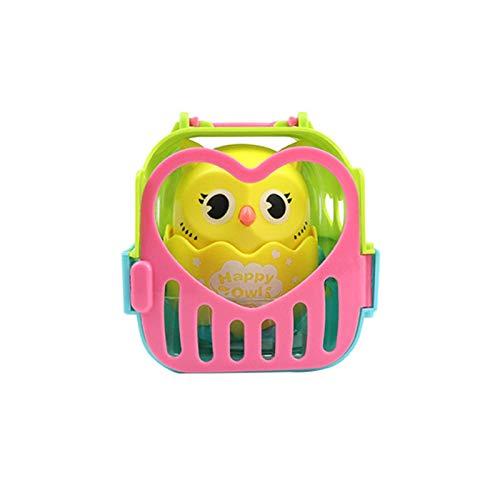 Bebé divertido búho juguete tire hacia atrás búho muñeca presionando juguete animal con empuje para deslizarse lindo regalo pequeño y portátil lindo padre-hijo búho pareja para niños