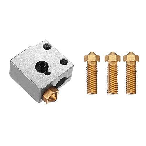 BRIGHTZ 3D-Druckerteil, 3D-Drucker-Zubehör, 0,6/0,8/1,0/1,2 mm 3D-Drucker Vulkan Nozzle + Heizblock Part Kit for 1,75 mm Filament Drucker