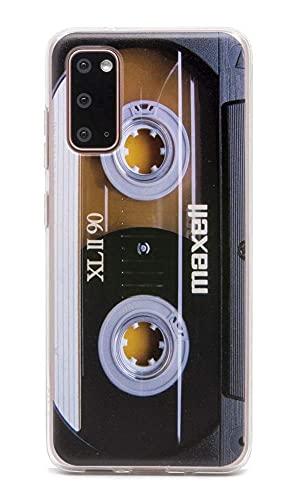 FAteam Schutzhülle für Galaxy S 20, matt, mit TPU, weicher Bumper, Retro-Musikkassette, kompatibel mit Samsung Galaxy S 20 6,2 Zoll / 15,9 cm, 2020 Version