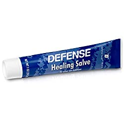Defense Soap Herbal Healing Salve 1 Ounce - 100% Natural Tea Tree Oil and Eucalyptus Oil Helps with Scratches, Scrapes, Ringworm, Acne, Psoriasis, Jock Itch, and Athlete's Foot