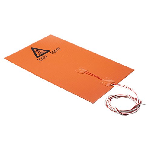 IPOTCH 200x300mm Flexible Silicone Heater Mat/Pad 3D Printer Heating Bed 220V/600W