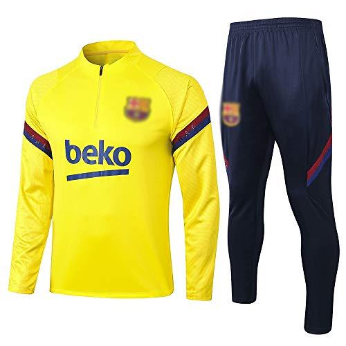 Camiseta Del Club Europeo Entrenamiento de fútbol Traje Club de jóvenes adultos de manga larga con capucha de la chaqueta transpirable jogging Plus traje de pantalones LQ00157 A00201 ( Size : XXL )