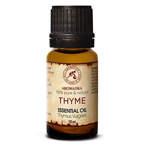 Aceite de Tomillo Puro 10ml - 100% Natural Aceite Esencial - Aceite de Timo Vulgaris - Austria - para Belleza - Baño - Cuidado Corporal - Aromaterapia - Relajación - Aceite de Masaje