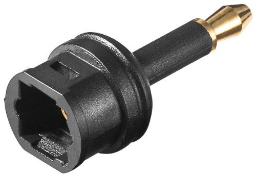 Unbekannt Audio Adapter Toslink Buchse auf 3.5mm optischer Stecker (2 Stück)