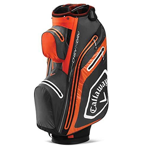 Callaway Chev Dry 14 Golf-Cart Tasche (2020), Anthrazit/Orange