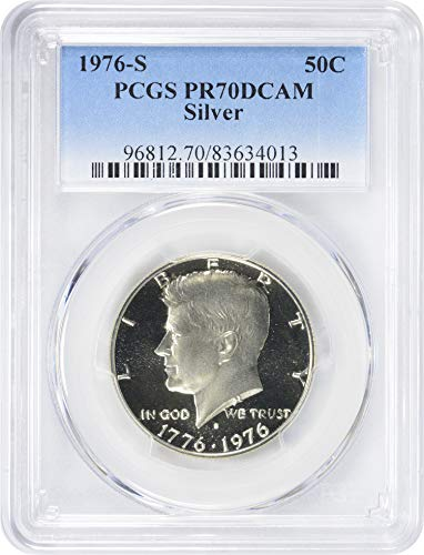 1976 S Bicentennial Silver Kennedy Half Dollar 50c PR70DCAM PCGS