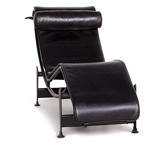 Cassina Le Corbusier LC 4 Leather Lounger Black Real Leather Armchair Function