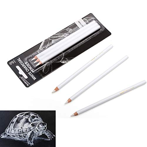 NIUPAN Art Supplies 3Pcs White Highlighter Sketch Sketch Charcoal Standard Pencil Drawing Pencil Set School Tool Painting | Standaard potlood