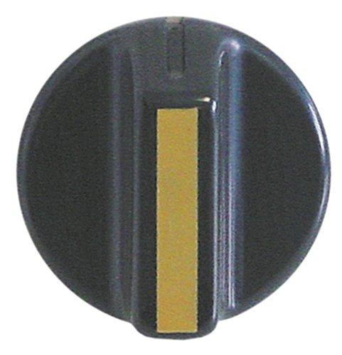Roller Grill Knevel voor heteluchtkachel CN ø 40mm symbool met nulstreep voor as ø 6x4,6mm met afvlakking onderaan zwart