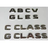 メルセデスベンツAMG ABCEGMS GLA GLB GLC GLE GLS CLA CLS CL SL SLC ML V GL SLK CLK GLK CLASSの場合、クローム文字エンブレムバッジ