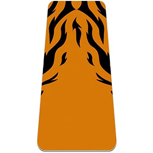Esterilla de yoga, Classic Pro Fitness Mat TPE Eco Friendly Esterilla de ejercicio antideslizante para yoga, pilates y gimnasia, ojo de tigre
