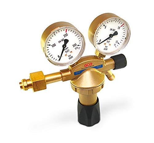 Rhöna Flaschendruckminderer Sauerstoff, 200 bar, 1-stufig, Arbeitsmanometer 10/16 bar, Ausgang 1/4