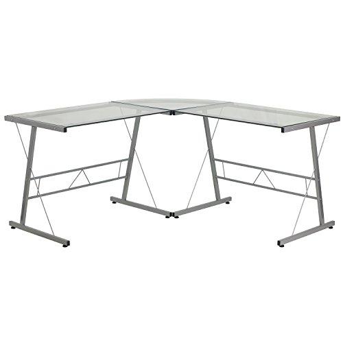 Flash Furniture NAN-JN-2824SL-COMBO-BK-GG Escritorio en Forma de L
