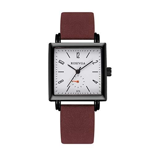 Relojes Para Mujer Mira la pulsera de las mujeres Cuadrado Casual Cinturón Temperamento Simple Shell Masculino Hombre Cuarzo Hombres Relojes Ladies Girls Reloj Regalo Relojes Decorativos Casuales Para