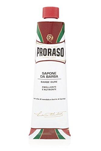 Proraso Tubo Crema De Afeitar De Sándalo Y Manteca De Karité Para Barbas Duras - 150 Ml. 180 g