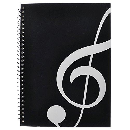 PUNK - Pentagramma in carta con 40 pagine Music Note Black