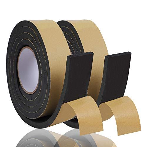 KURASHI 高密度クッション隙間テープ 2本セット 防水 パッキンテープ 防風 防音 雨戸 サッシ 幅50mm 厚み10mm(2m)
