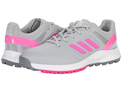 adidas Women's Golf Shoe, Grey/Screaming Pink/Grey, 6.5