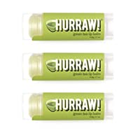 Hurraw! Green Tea Lip Balm, 3 Pack – Organic, Certified Vegan, Cruelty and Gluten Free. Non-GMO, 100% Natural Ingredients. Bee, Shea, Soy and Palm Free. Made in USA