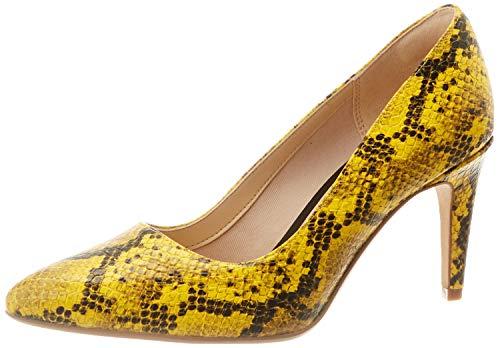 Clarks Damen Laina Rae Pumps, Gelb (Yellow Snake Yellow Snake), 35.5 EU