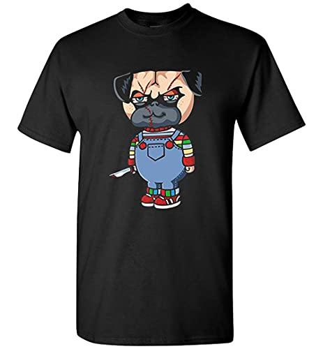 Sumito Pug Good Boy - Chucky Pug Camiseta Personalizada, camiseta negra, S
