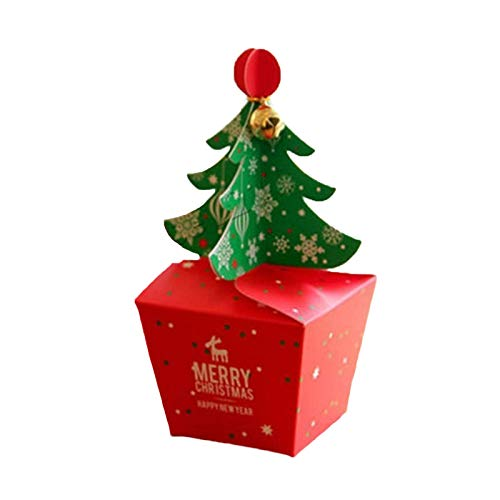 YUDIAN 2PCS Cute Christmas Apple Packaging Box Cartoon Gift Fruit Treat Candy Gifts Box for Wedding Xmas Presents Sweets Christmas for Festival Party, Presents,Cake Sales