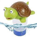 ATDAWN Pool Chlorine Floater, Floating Chlorine Dispenser for Pools, Floating Pool Chlorinator Dispenser for Chemical Tablets Fits 3 inch Tabs, Chlorine Tablet Floater, Bromine Holder Basket, Turtle