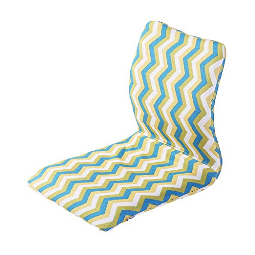Mjd moderne zitzak, stijlvolle wasbare strepenstoel, zitzakken