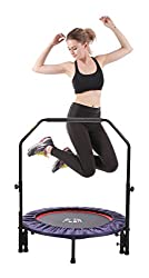 Ergonomic: 3 level heights adjustable handrail with strengthened locking bolt make it steady and it helps user to keep balance, especially for kids and seniors Extendable: when switch to Lean Trampoline, it offers more body workout exercises and fun ...