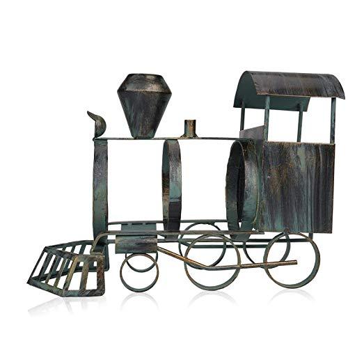 Asffdhley ArtHome - Soporte de metal para botellas de vino, diseño de tren