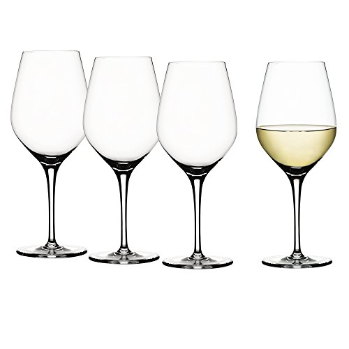 Spiegelau & Nachtmann, 4-teiliges Weißweinglas-Set, Kristallglas, 360 ml, Authentis, 4400183