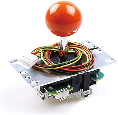 Sanwa JLF-TP-8YT Original Joystick Red - for Arcade Jamma Game 4 & 8 Way Adjustable, Compatible with Catz Mad SF4 Tournament Joystick (Red Ball Top) S@NWA