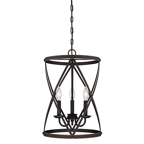 Westinghouse Lighting 6303700 Isadora Three-Light Indoor Chandelier, Oil Rubbed Bronze Finish with Highlights,