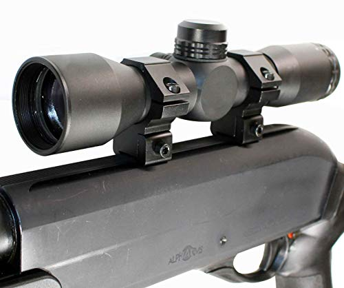 TRINITY Hunting Scope 4x32 Sight for Hatsan 95 Air Rifle Dovetail System Mount Adapter Aluminum Black Tactical Optics Hunting Accessory rangefinder Reticle Target Range Gear Single Rail.