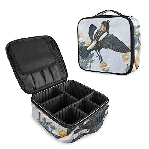 Bobolink Make-up-Tasche für Vögel, Reis, Heu, Wildtiere, Vögel, Make-up-Tasche, wasserdicht, abnehmbar, Make-up-Tasche, Organizer, Kosmetiktasche, Oxford-Gewebe