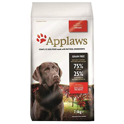 KRISP 1 x 7.5kg Applaws Large Adult Dog Dry Food Chicken Meat Natural Pet Snack