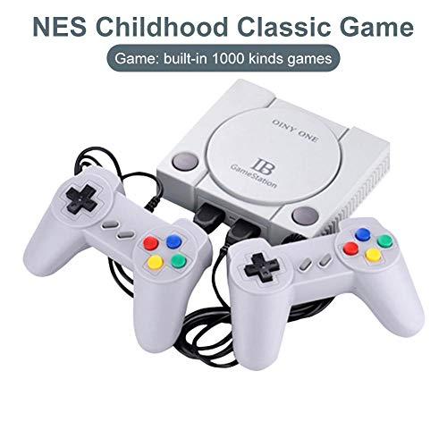 N/P Gamecontroller, Retro Classic-Spielekonsolen, Tragbarer, Langlebiger Retro-Spielekonsolen-Joystick, Integrierte 1000 Klassische Familienspiele Handheld-Spielespieler Family TV-Videospielkonsole