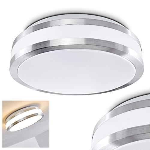 LED Deckenleuchte Sora aus Metall in einem modernen Design – Helles warmweißes Licht für das Badezimmer – Das Wohnzimmer – Die Küche oder den Flur – Deckenlampe 880 Lumen 12 Watt 3000 Kelvin