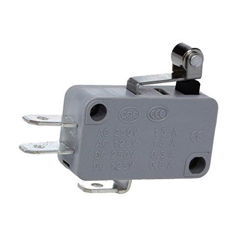 SODIAL(R) 2 x Micro Interruptor Rodillo Palanca Corta de Metal