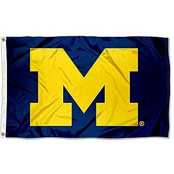 UM Michigan Wolverines University Large College Flag