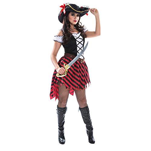Morph Piratin Kostüm Weiblicher Pirat Verkleidung für Damen - XL 42-44
