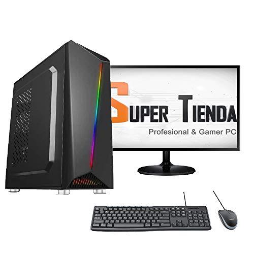 SUPERTIENDA Computadora Nueva Generación i5 10400 8GB DDR4 1TB Fuente de 500W LED 20