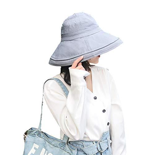Pescador De Sombra del Sol De Doble Cara, Sombrero De Sol De Color Sólido, Sombrero Grande, Algodón Rizado Plegable, Sombrero De Viaje Al Aire Libre C3