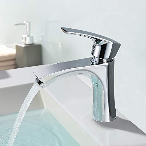 Homelody Wasserhahn Bad Waschbecken Mischbatterie Badarmatur Waschtischarmatur Einhandmischer Waschtisch Armatur f. Badezimmer