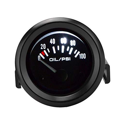 Kuuleyn-Öldruckanzeige, 52 mm/2 Zoll 12-V-Universalauto-Anzeige für elektromagnetische Öldruckanzeige Auto-modifiziertes Messgerät Für alle 12-V-Automodelle