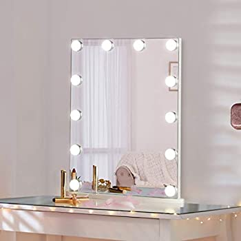 Luxfurni Vanity Tabletop Hollywood Makeup Mirror with Dimmable Light