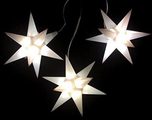 Importeur Pagoda GmbH Leuchtsterne StarLED Lichterkette 3er Set Weiss