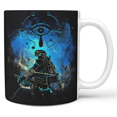 O5KFD&8 11 Unze Zelda-Schwert Getränke Kaffee Tasse mit Griff Porzellan Neuheit Becher - Cartoon Jungen Männer, Büro verwenden White 330ml
